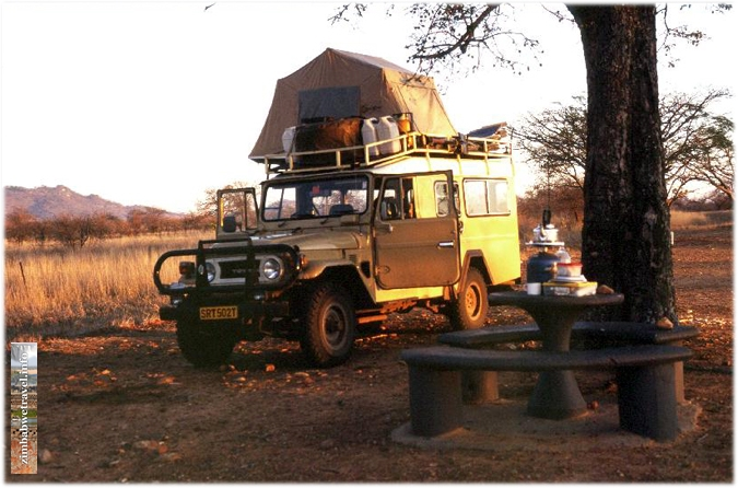 Rooftop tent on a Landcruiser