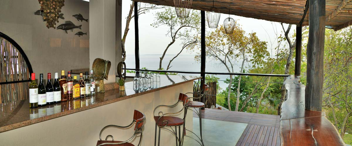 The bar at Kariba Safari Lodge offers magnificent views of Lake Kariba
