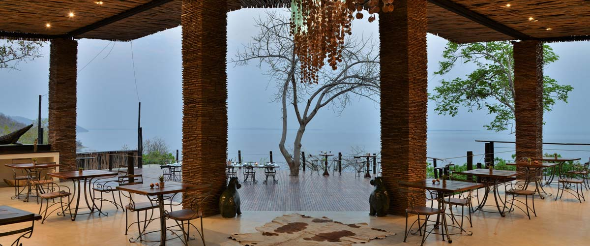 Lake Kariba is a constant and beautiful presence at Kariba Safari Lodge