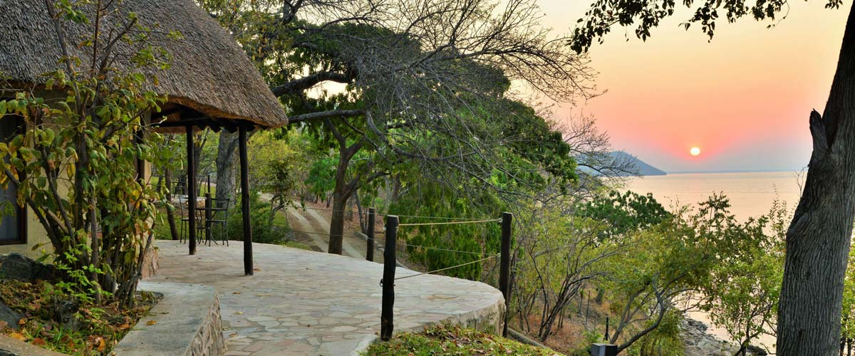 Sunrise over Lake Kariba seen from Kariba Safari Lodge