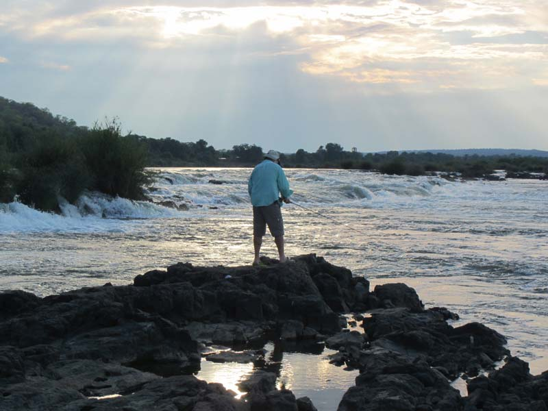 Fishing at Zambezi Sundowner Lodge